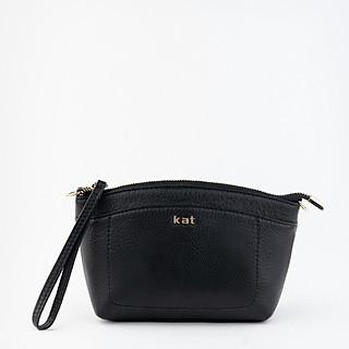 Túi da thật Kat - VIC - Màu đen