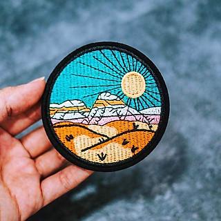 Patch ủi sticker vải - Mặt trời hình tròn