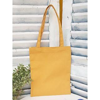 Túi tote canvas trơn- vàng