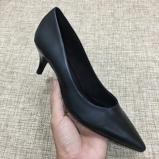 Giày cao gót nữ truyền thống 5cm gót nhọn mũi nhọn - sử dụng forrm giày xuất khẩu EU SrM830