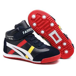 Giày Cổ Cao Cho Bé Trai 3 - 12 Tuổi Lót Lông Ấm Áp GC25