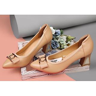 Giày cao gót nữ da cao cấp SJ0080