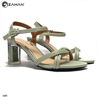 Sandal nữ 6cm, quai đan nhũ SD11