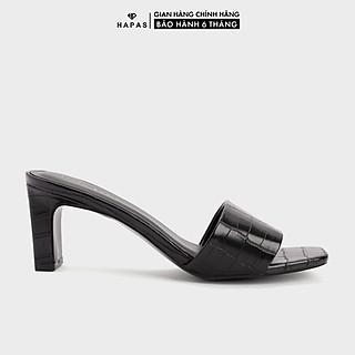 Giày Cao Gót Nữ Đế Vuông Quai Ngang Da Rắn 7Phân - CG77103
