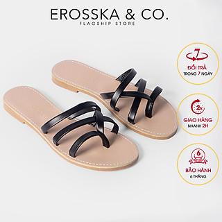 Dép nữ xỏ ngón thời trang Erosska thiết kế phối dây phong cách trẻ trung DE031