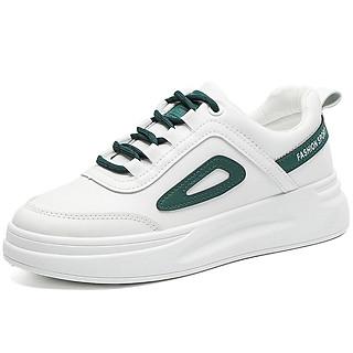 Giày thể thao nữ cổ thấp Bluewind 68728, gót dày in chữ, dây phối màu độc đáo hai màu lựa chọn