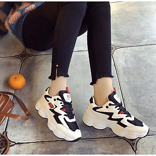 Giày nữ thể thao sneaker phối lưới độn đế siêu xinh TT5