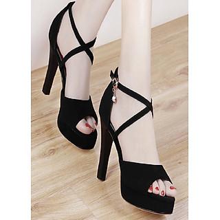 Giày cao gót quai đan chéo nhỏ