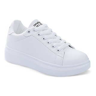 Giày thể thao nữ màu trắng cổ thấp