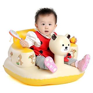 Ghế hơi tập ngồi cho bé hình gấu + Tặng keo và miếng vá