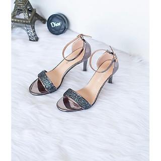 Giày sandal đính kim sa