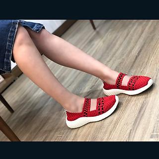 Giày thể thao nữ Thái Lan chuyên dụng đi bộ siêu nhẹ siêu bền siêu êm chân WN3011Red, màu sắc thời trang trẻ trung, không ngại mưa nắng, đi mưa rửa nước thoải mái, đi mòn hết đế chưa hỏng giày - giày dép Thái Lan