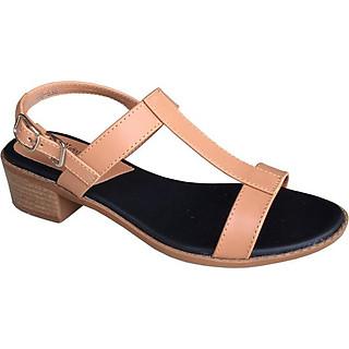 Dép sandal nữ TRƯỜNG HẢI  màu vàng gót  vuông 4cm da mềm mại đế cao su không trơn dép nữ thời trang cao cấp THXDN795