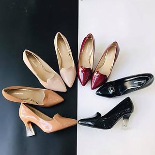 [ Shop giày somina ] Giày VIP gót mika 7cm lưỡi gà MT240