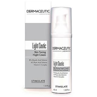 Kem dưỡng trắng sáng da ban đêm Dermaceutic Pháp - Light Ceutic