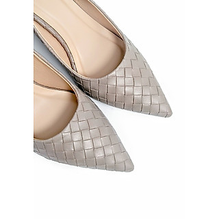 Giày Cao Gót Công Sở 6cm Đệm Mút Sulily màu xám mang êm chân G01-IV20XAM