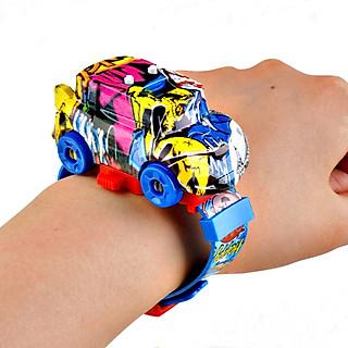 Đồng hồ ô tô đeo tay 2 in 1 dành cho bé trai bé gái - BY46 (KÈM ẢNH THẬT)