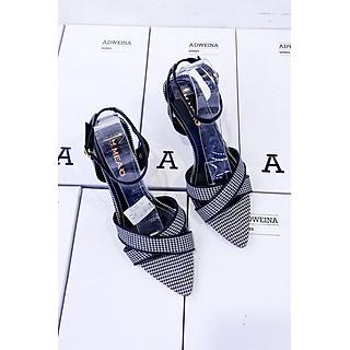 Giày Sandal Cao Gót 5p Mũi Nhọn