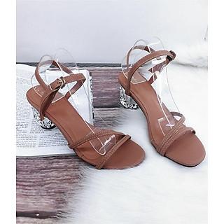 Giày sandal cao gót cao 5 cm, gót mika nhập mang cực sang MT29