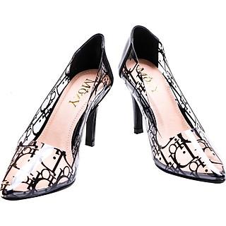Giày cao gót Mozy phối mica MZG149