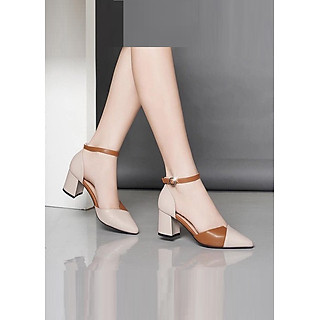 Giày cao gót nữ 7cm pha màu cực xinh - 1001