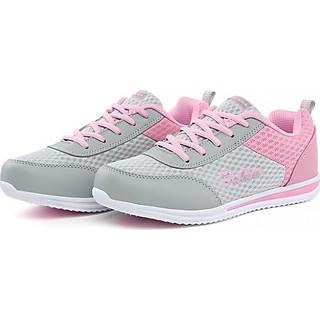 Giày Sneaker Thể Thao Nữ YAMET YM9968HX Xám Phối Hồng