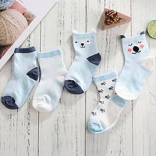 Set 5 đôi Tất vớ cotton cho bé thấm hút mồ hôi hiệu quả
