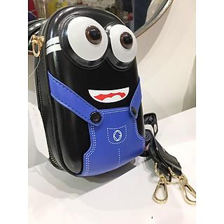 Túi đeo chéo da hình Minion, chất liệu cao cấp,ảnh thật tự chụp (KT 7*13*20cm)