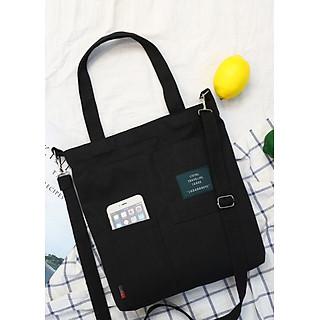 Túi đeo chéo vải canvas LAHstore, túi vải nữ TV05, phong cách Hàn Quốc, thời trang trẻ