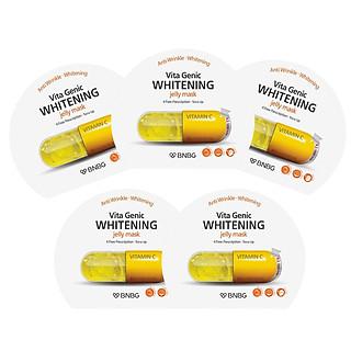Combo 5 Mặt nạ dưỡng da trắng sáng và làm đều màu da BNBG Vita Genic Whitening Jelly Mask (Vitamin C) 30ml x 5