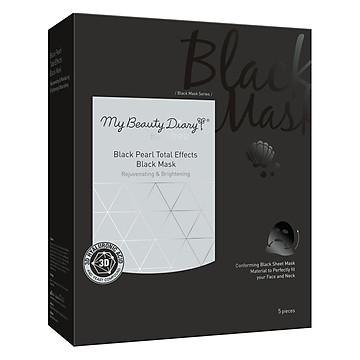 Mặt Nạ Ngọc Trai Đen Hiệu Quả Toàn Diện My Beauty Diary Black Pearl Total Effects Black Mask (5 Miếng / Hộp)