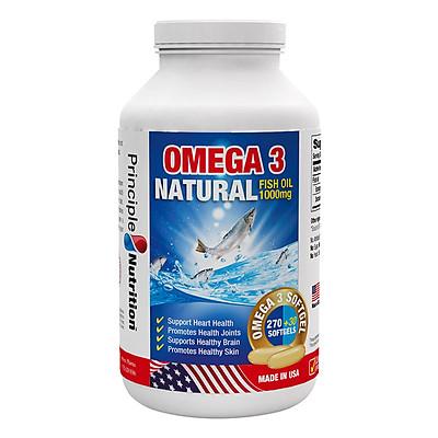 Thực Phẩm Chức Năng Viên Bổ Sung Omega 3 Từ Dầu Cá Thiên Nhiên Omega 3 Natural Fishoil 1000mg Principle Nutrition (Hộp 270 viên + 30 viên)