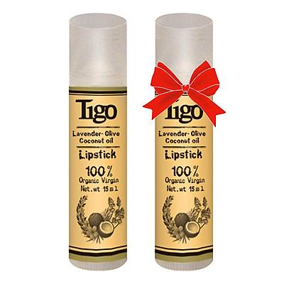 Son Sáp Dưỡng Môi Tigo Olive & Lavender (15g) - LS06-01