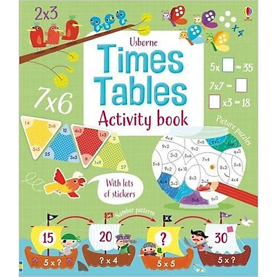 Sách tương tác tiếng Anh - Usborne Times Tables Activity Book