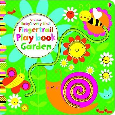 Sách tương tác tiếng Anh - Usborne Baby's very first Fingertrail Play book Garden