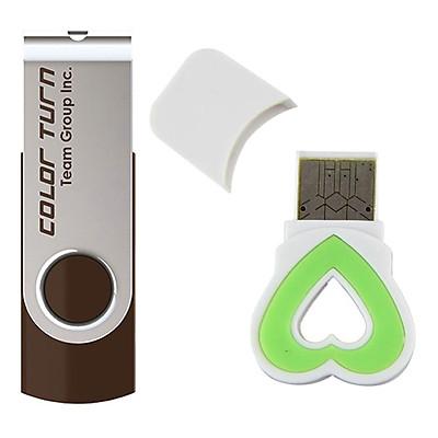 Bộ 1 Đầu Đọc Thẻ Nhớ Và 1 USB 2.0 Team Group INC E902 32GB - Hàng Chính Hãng