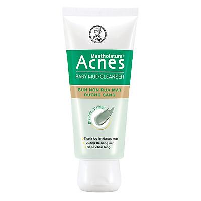 Bùn Non Rửa Mặt Dưỡng Sáng Da Acnes Baby Mud (100g)