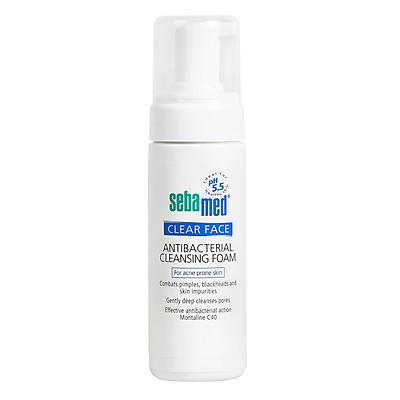 Sữa Rửa Mặt Tạo Bọt Ngăn Ngừa Mụn Sebamed Ph5,5 Clear Face Antibacterial Cleansing Foam - SCF01A - 150ml