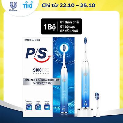 Bàn Chải Điện P/S S100 PRO - Công Nghệ Sóng Âm, Chải Sạch Mảng Bám Tới 10X - Xanh Ombre