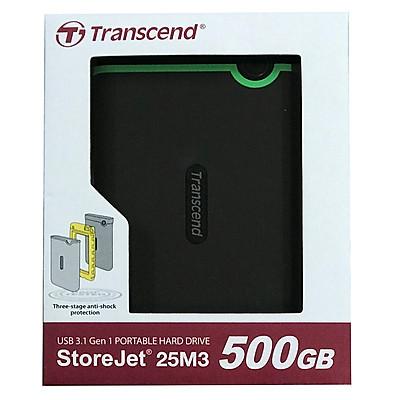 Ổ Cứng Di Động Transcend Storejet M3S 500GB USB 3.1 - TS500GSJ25M3S - Hàng chính hãng