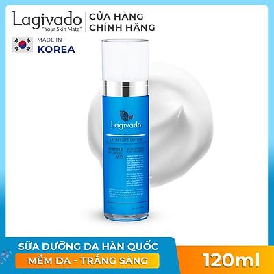 Sữa dưỡng da mặt trắng sáng da Hàn Quốc Lagivado Satin Soft Lotion 120 ml – Màu Xanh Dương
