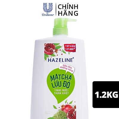 Sữa Tắm Dưỡng Thể Thiên Nhiên Trắng Sáng Da Hazeline Matcha Lựu đỏ Sáng Mịn Rạng Ngời 1.2kg