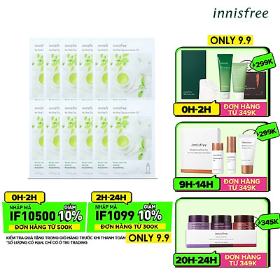 Combo 8+4 Mặt Nạ Giấy Dưỡng Ẩm Phục Hồi Da Innisfree My Real Squeeze Mask 20ml - 278002044