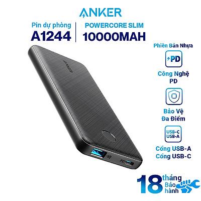 Pin Sạc Dự Phòng Anker PowerCore Slim 100000 mAh PD - A1244 - Hàng Chính Hãng