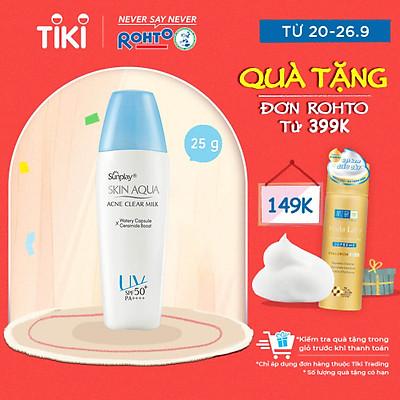 Sữa Chống Nắng Dưỡng Da Ngừa Mụn Sunplay Skin Aqua Acne Clear SPF 50+ PA++++ (25g)