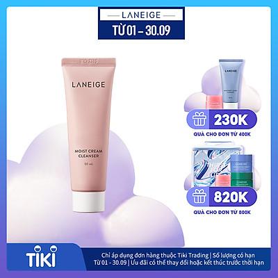 Sữa Rửa Mặt Dưỡng Ẩm Laneige Moist Cream Cleanser 50ml