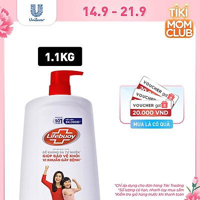 Sữa Tắm Lifebuoy 1100g Bảo Vệ Vượt Trội 10 Giúp Bảo Vệ Khỏi 99.9% Vi Khuẩn Và Ngăn Ngừa Vi Khuẩn Lây Lan Trên Da Tốt Nhất
