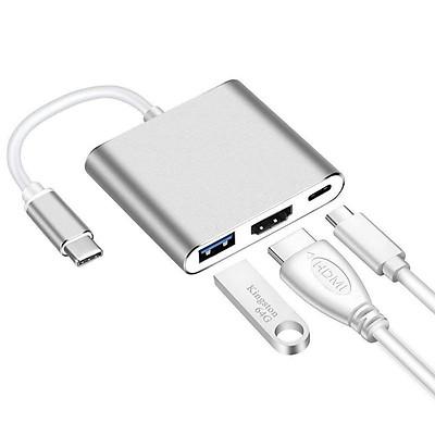 Bộ Chuyển Đổi 3 Ngõ Ra USB HDMI USB-C Cho MacBook Retina