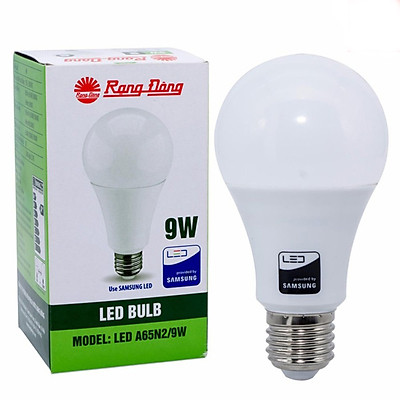 Combo 6 Bóng đèn led tròn 9W Rạng Đông, Model LED BULB LED A60N1/9w