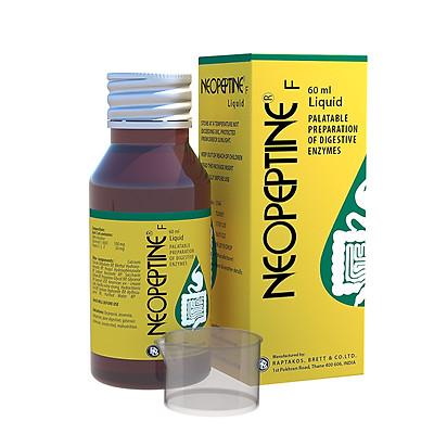 Thực phẩm bảo vệ sức khỏe Neopeptine F Liquid  (Neopeptine siro) chai 60ml - Hỗ Trợ Tăng Cường Tiêu Hóa Và Hấp Thu Thức Ăn